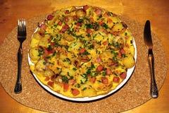 Omelette dell'uovo Fotografie Stock Libere da Diritti