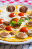 Omelette dell'uovo Immagine Stock
