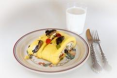 Omelette dell'uovo Fotografia Stock Libera da Diritti