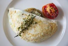 Omelette della chiara dell'uovo Immagini Stock