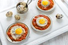 Omelette des oeufs de caille Photos libres de droits