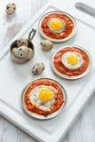 Omelette des oeufs de caille Images libres de droits