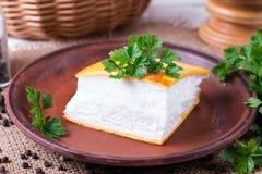 Omelette di Llush in francese immagine stock