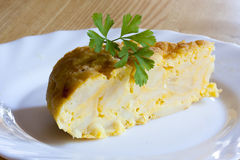 Omelette and egg Royalty Free Stock Photos