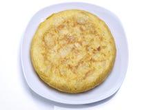 Omelette espagnole. Photographie stock libre de droits