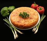 Omelette espagnole de pomme de terre de tortilla Images libres de droits