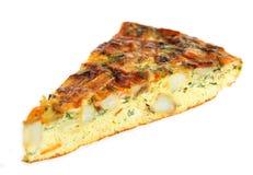Omelette espagnole horizontale Photographie stock libre de droits