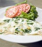 Omelette fiorentina della chiara dell'uovo degli spinaci Fotografia Stock Libera da Diritti