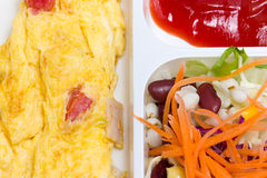 Omelette With Fresk Salad. Stock Photography