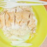 Omelette giapponese di cucina fatta con riso fritto Fotografie Stock