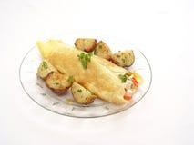 Omelette greca Fotografia Stock