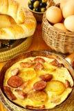 Omelette grecque (ou Espagnol) Images libres de droits