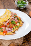 Omelette with Ham and Cheese Royalty Free Stock Photos