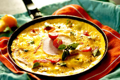 Omelette with ham Stock Photo