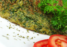 Omelette with Herbs Royalty Free Stock Image