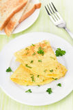 Omelette with herbs Stock Photos