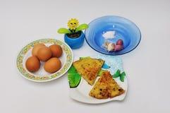 Omelette indonesiana dell'uovo Fotografie Stock Libere da Diritti
