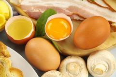 Omelette Ingredients Royalty Free Stock Images
