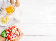 Omelette ingredients. Stock Image