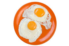 Omelette isolata su bianco Immagini Stock