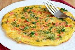 Omelette libera del cavolo del glutine Fotografie Stock Libere da Diritti