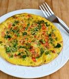 Omelette libera del cavolo del glutine fotografia stock