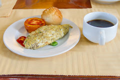 Omelette mit Tomate Lizenzfreies Stockbild