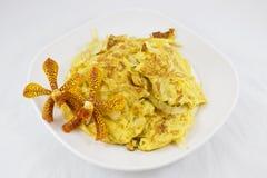 Omelette mit Zwiebeln Lizenzfreie Stockfotografie