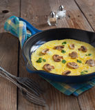 Omelette with mushroom Royalty Free Stock Photos