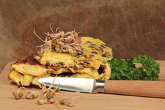 Omelette with mushrooms Stock Photos
