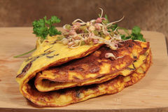 Omelette with mushrooms Stock Image
