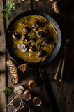 Omelette with mushrooms Royalty Free Stock Photo