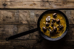 Omelette with mushrooms Royalty Free Stock Images
