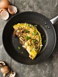 Omelette with mushrooms Stock Photo
