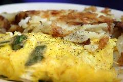 Omelette occidentale con le patate Immagini Stock
