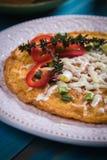 Omelette, oeufs de poulet frit Photographie stock libre de droits