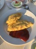 Omelette. Omelette or Omelet or Fried eggs royalty free stock images