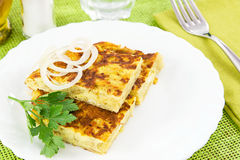 Omelette with onions Stock Photo