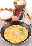 Omelette in pan Royalty Free Stock Images