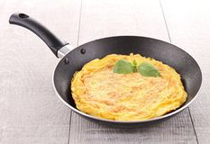 Omelette in pan Stock Photo