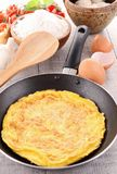 Omelette in pan Royalty Free Stock Image