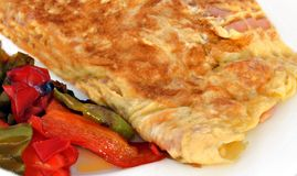 Omelette with peppers sweet Royalty Free Stock Photo