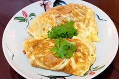 Omelette in piatto Immagine Stock Libera da Diritti