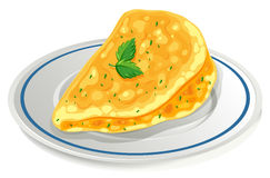 Omelette on the plate Stock Photo