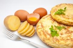 Omelette of potato Stock Photo