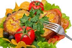Omelette pour le pain de petit déjeuner Photographie stock libre de droits