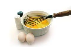 omelette przygotowywa Fotografia Stock
