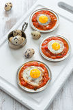 Omelette of quail eggs Royalty Free Stock Images