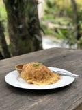 Omelette rice stock photo