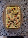 Omelette saine de petit déjeuner photo libre de droits